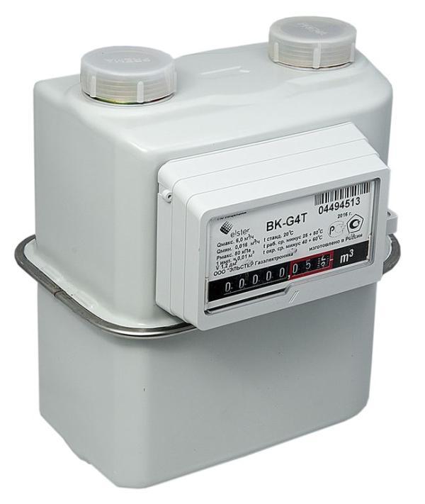 Счетчик газовый бытовой ВК G-4/ BKG-4T